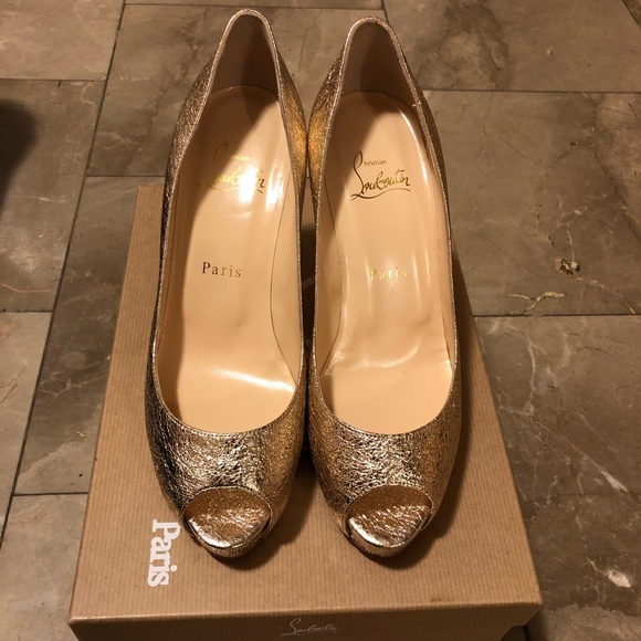 super popular 8249a 9b1b8 Louboutin new very prive 100 specchio vintage NWT